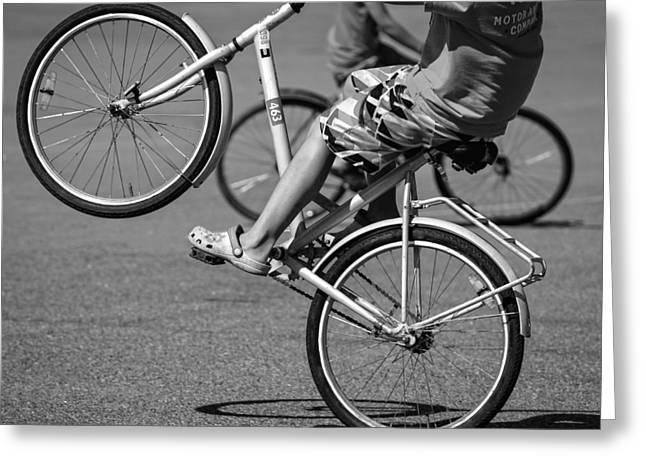 Wheelie Greeting Cards - Wheelie Boys Greeting Card by Ari Salmela