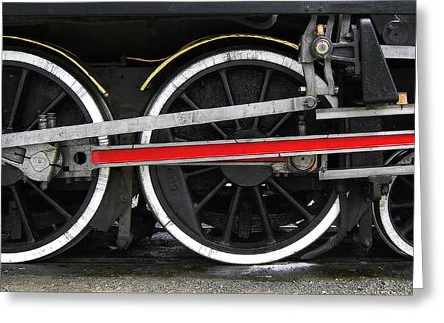 Kingston Greeting Cards - Wheels of the Kingston Flyer Greeting Card by Joe Bonita