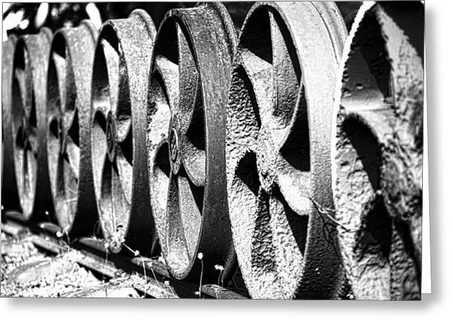 Locomotive Wheels Greeting Cards - Wheels V2 Greeting Card by Douglas Barnard