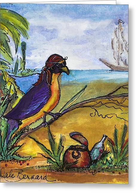 Cartton Greeting Cards - When Birds Of Paradise Go Bad Greeting Card by Dale Bernard