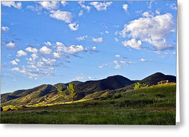 When Clouds Meet Mountains Greeting Card by Angelina Vick