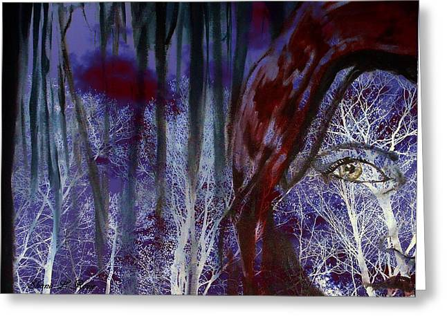 Rowe Digital Art Greeting Cards - When Darkness Beckons Greeting Card by Shana Rowe