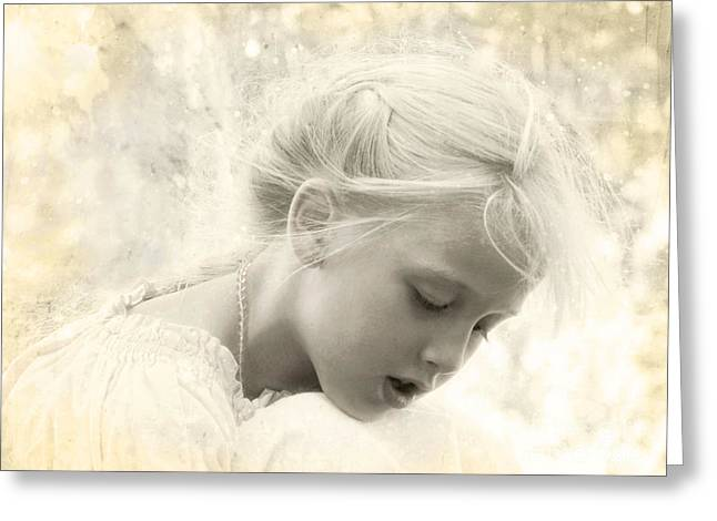 Innocence Child Digital Art Greeting Cards - When Dreams Come True Greeting Card by Ellen Cotton