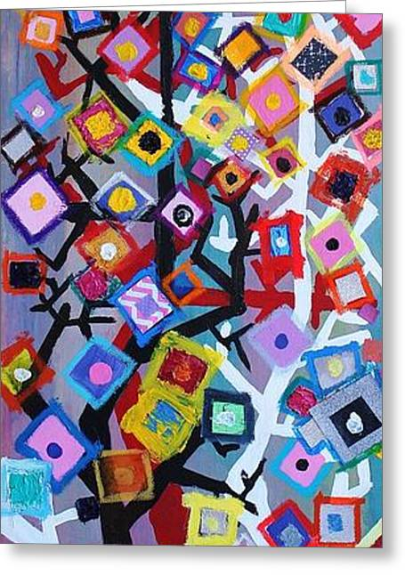 Abstract Rain Greeting Cards - When Enough is too Much  Greeting Card by Mark Watson
