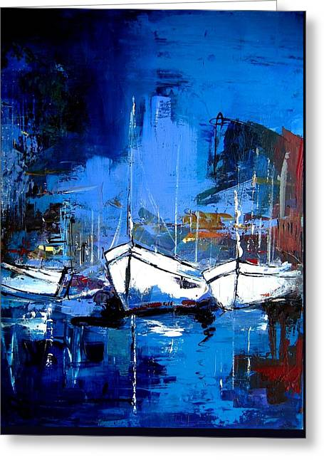 Yatch Greeting Cards - When Evening Comes Greeting Card by Elise Palmigiani