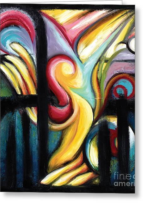 Liberation Paintings Greeting Cards - When Freedom Comes Greeting Card by Tiffany Davis-Rustam