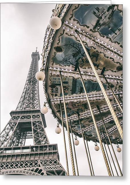 Whirligig Greeting Cards - When I Dream of Paris Greeting Card by Nomad Art And  Design