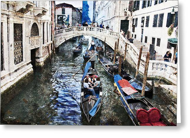 Gondolier Greeting Cards - When I Last Saw Venice Greeting Card by Madeline Ellis