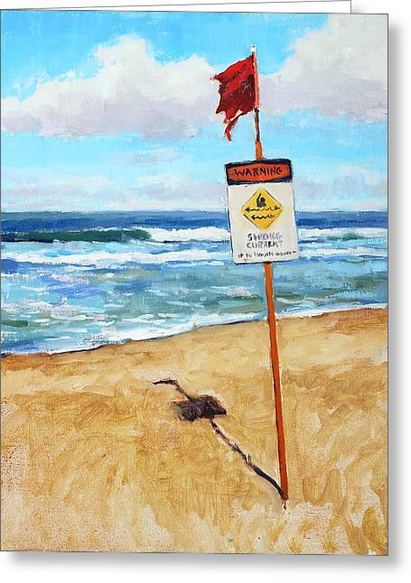 Surfing Art Print Paintings Greeting Cards - When in doubt dont go out Greeting Card by Jenifer Prince
