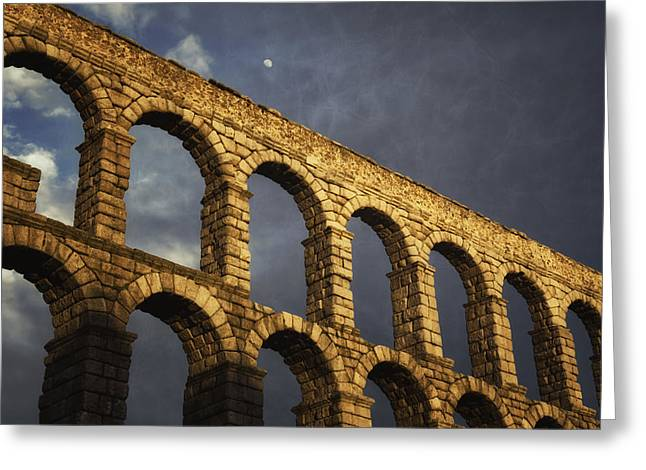 Stones Greeting Cards - When in Segovia Greeting Card by Joan Carroll