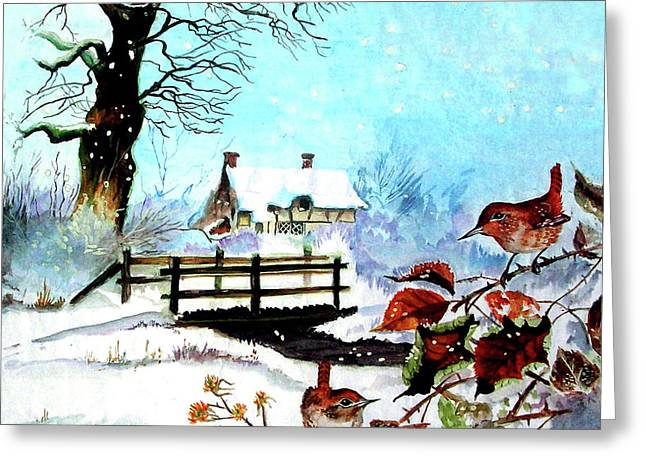 Sheds Greeting Cards - When It Snows Greeting Card by Farah Faizal