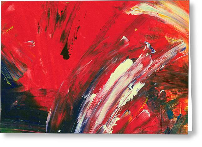 Most Paintings Greeting Cards - When its Red Greeting Card by Noa Yerushalmi