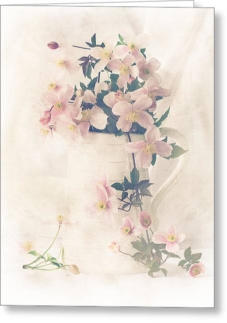 Jugs Photographs Greeting Cards - When Joy Overflows Greeting Card by Constance Fein Harding
