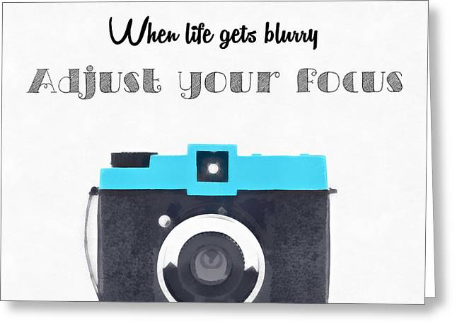 Positive Attitude Greeting Cards - When life gets blurry Greeting Card by Sophie McAulay