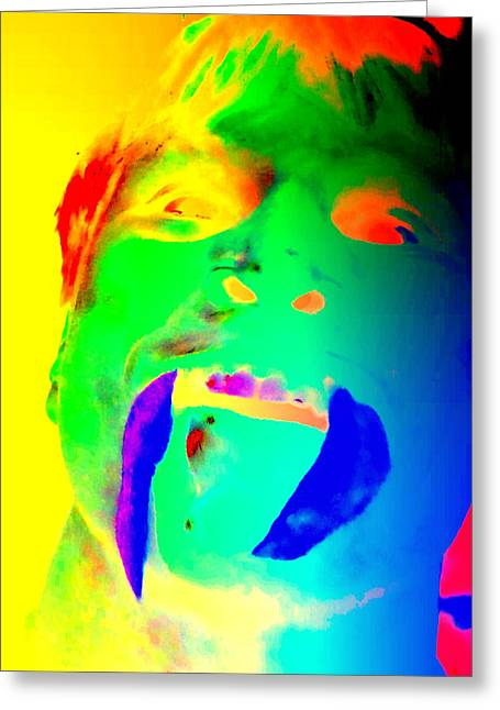 Psychiatric Greeting Cards - When my face turns green Greeting Card by Hilde Widerberg