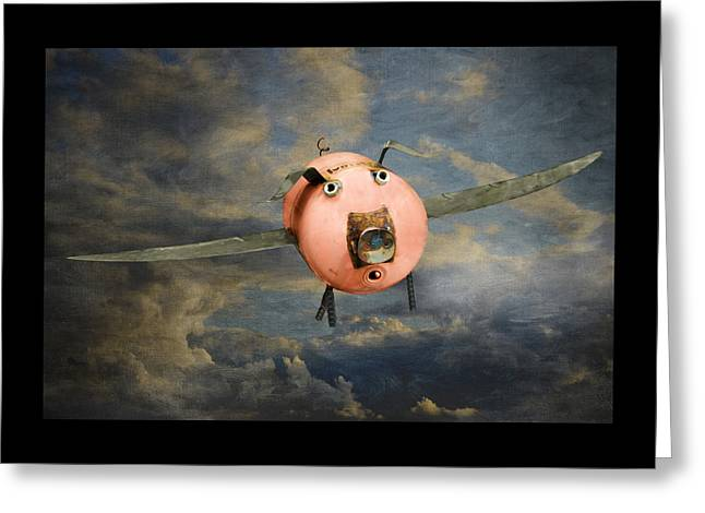Steven Michael Photography And Art Greeting Cards - When Pigs Fly Greeting Card by Steven  Michael
