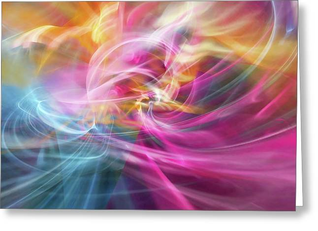 Abstract Digital Art Digital Art Greeting Cards - When Prayers Enter The Throne Room Greeting Card by Margie Chapman