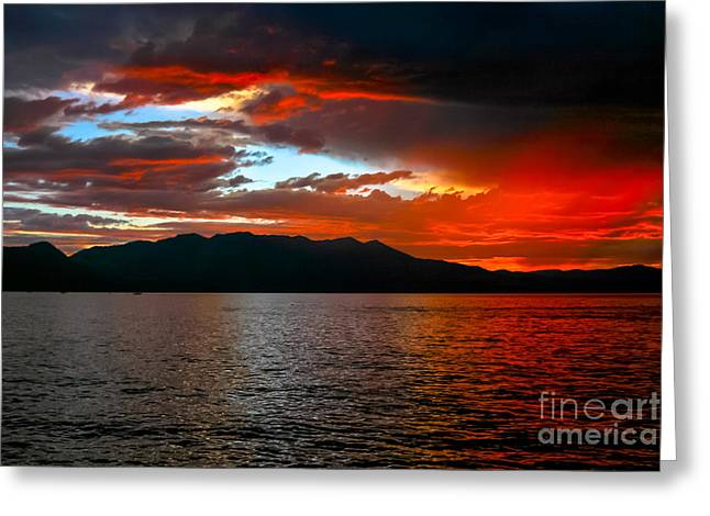 Dusk By The Lake Greeting Cards - When The Coast Is Clear Greeting Card by Mitch Shindelbower