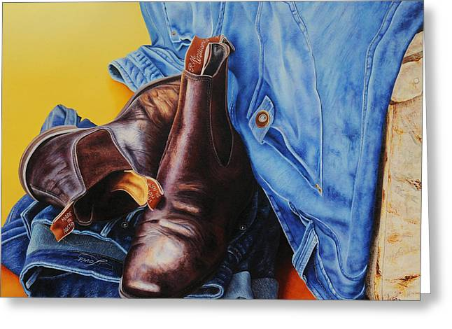 Levis Paintings Greeting Cards - When The Day Is Done Greeting Card by Luna