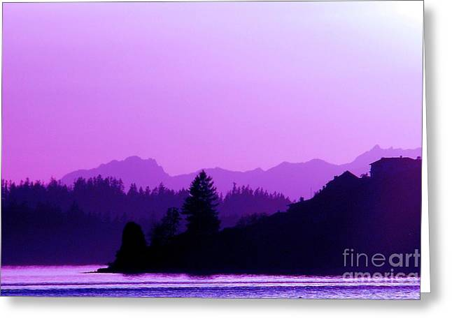 South Puget Sound Greeting Cards - When the Deep Purple Falls Greeting Card by Chris Anderson