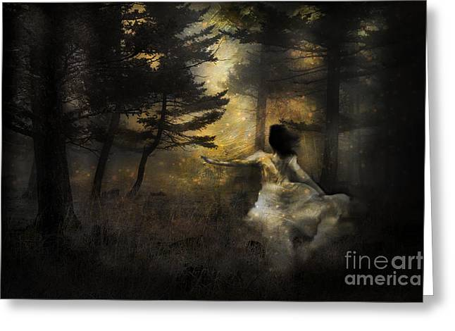 Book Cover Art Greeting Cards - When The Forest Calls Greeting Card by Theresa Tahara