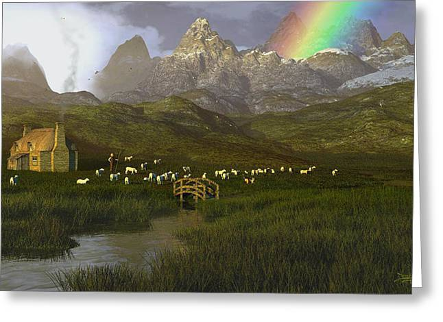 Dieter Carlton Greeting Cards - When the Grass Was Greener Greeting Card by Dieter Carlton
