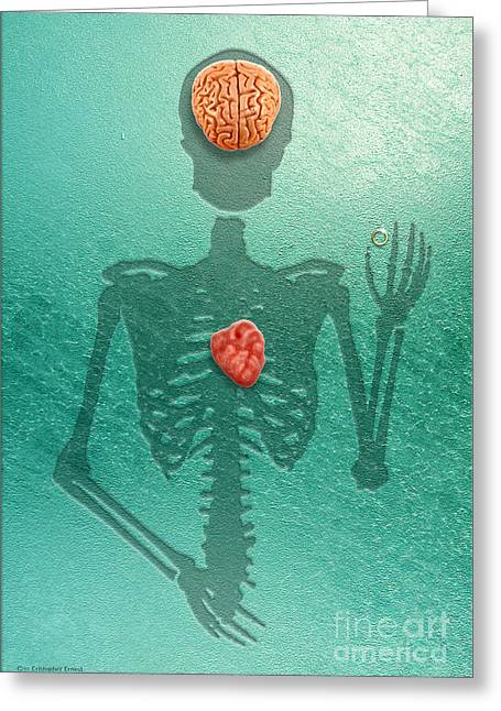 Cristopher Ernest Greeting Cards - When the Heart Rules the Mind Greeting Card by Cristophers Dream Artistry
