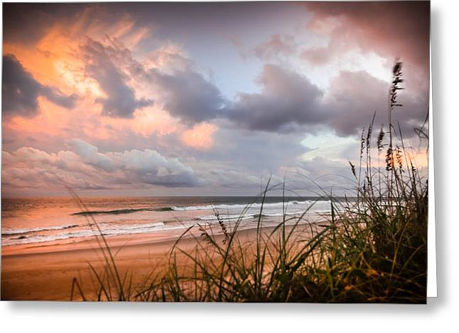 Beachscape Greeting Cards - WHEN the HEAVENS OPEN Greeting Card by Karen Wiles