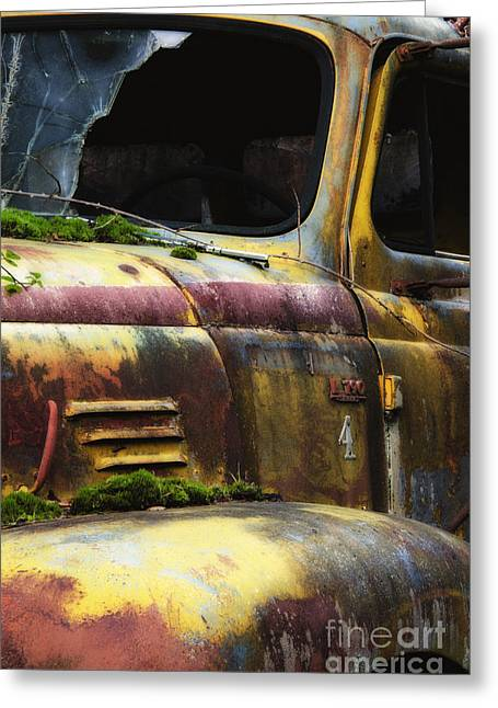 Old Trucks Greeting Cards - When The Lights Go Out 2 Greeting Card by Bob Christopher