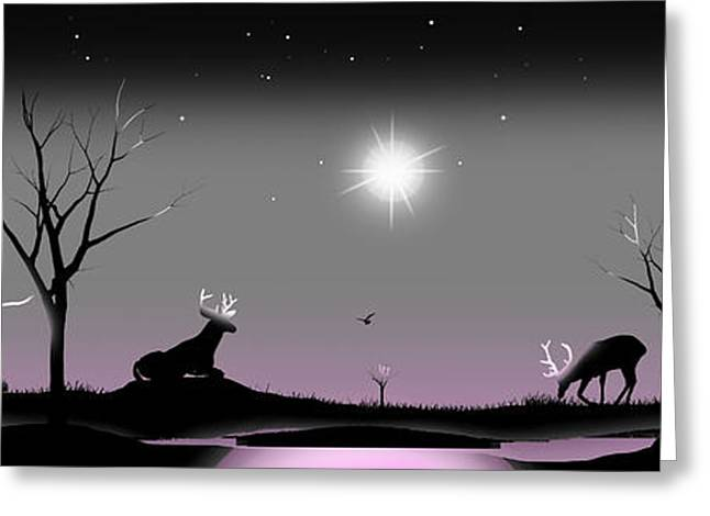 Moonglow Greeting Cards - When the night has come and the land is dark and the moon is the only light well see Greeting Card by Peter Stevenson