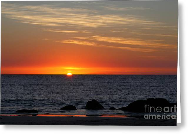 When The Sun Goes Down Greeting Card by James Brunker