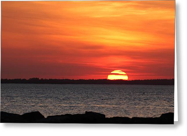 When the sun goes down Greeting Card by Robin Martin