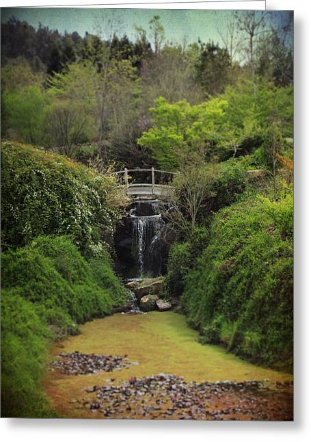 Lush Green Digital Greeting Cards - When Too Many Tears Have Fallen Greeting Card by Laurie Search