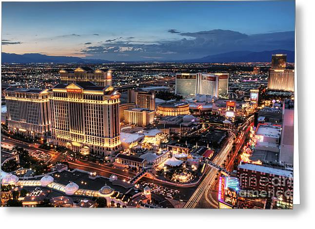 When Vegas Comes To Life Greeting Card by Eddie Yerkish