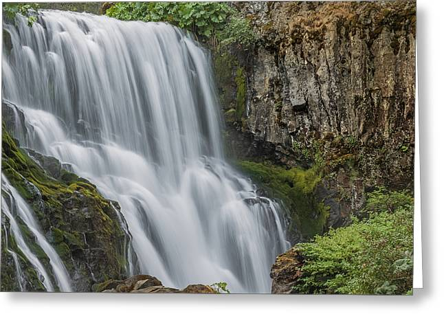 When Water Meets Rock Greeting Card by Loree Johnson