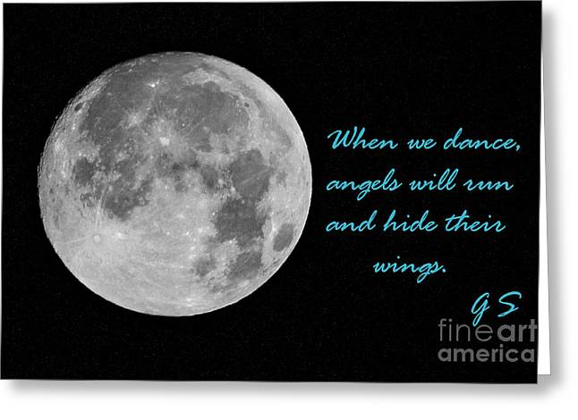 When We Dance Angels Will Run And Hide Their Wings Greeting Card by Rene Triay Photography