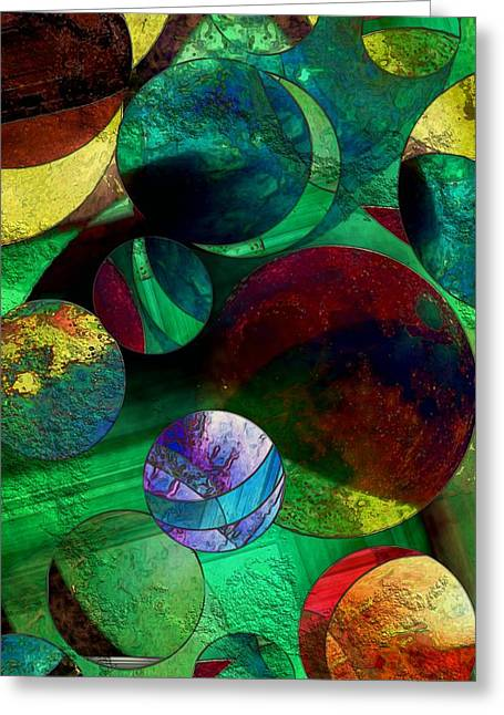 When Worlds Collide Greeting Card by RC DeWinter