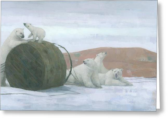 Arctic Ice Greeting Cards - When Worlds Collide Greeting Card by Steve Mitchell