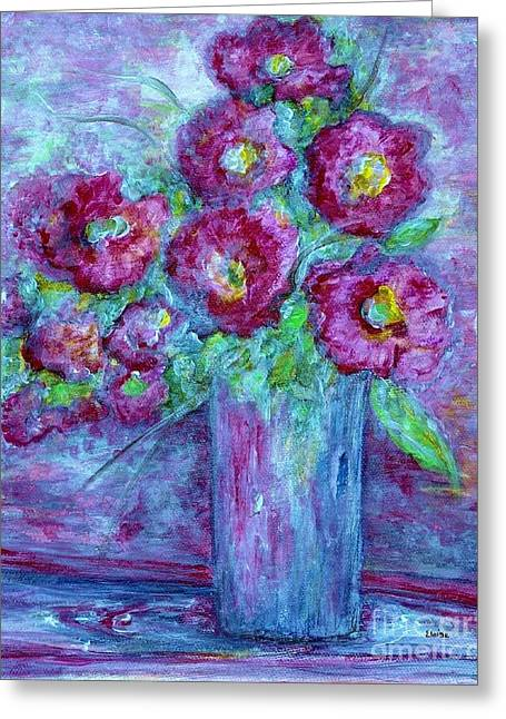 Impressionist Greeting Cards - When Ya Got the Blues Greeting Card by Eloise Schneider