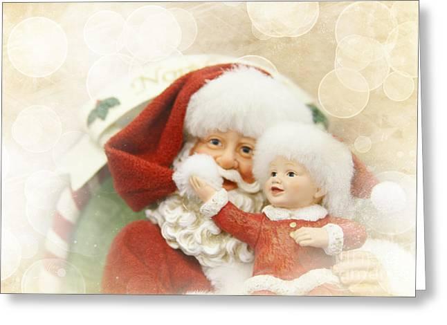 Nicholas Greeting Cards - Merry Christmas Greeting Card by Sharon Mau