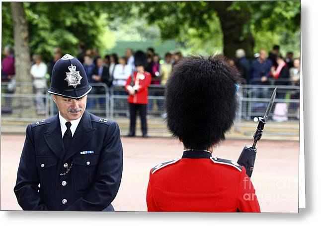 Police Talking Greeting Cards - Where Can I Get a Uniform Like That Greeting Card by James Brunker