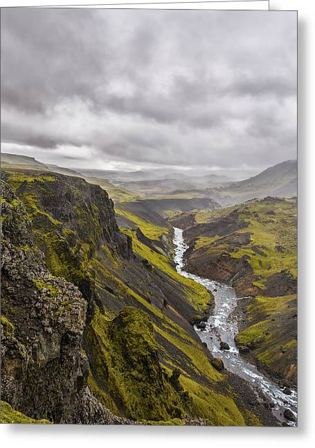Iceland Greeting Cards - Where Do I Look Greeting Card by Jon Glaser