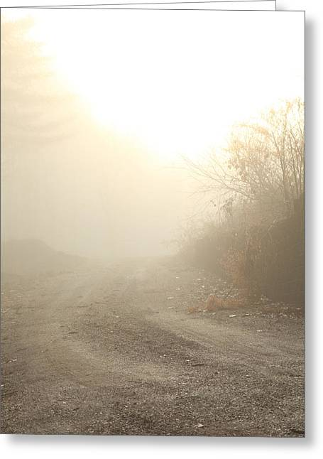 Back Road Greeting Cards - Where Does The Road Lead Greeting Card by Karol  Livote