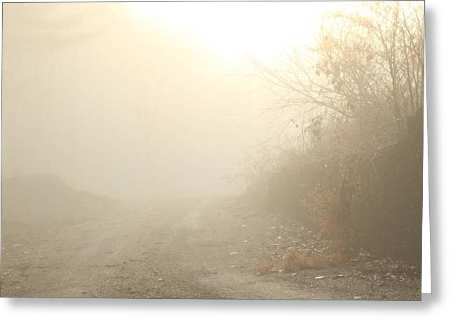 Where Does The Road Lead Greeting Card by Karol  Livote