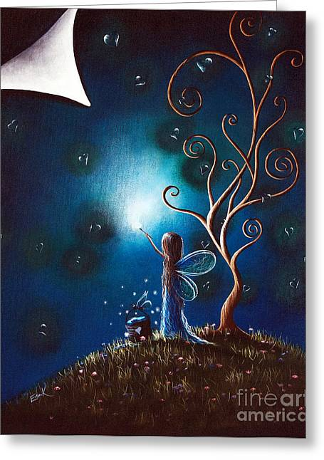 Lullaby Greeting Cards - Fairy Art by Shawna Erback Greeting Card by Shawna Erback