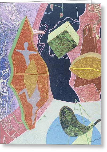 Surrealism Reliefs Greeting Cards - Where Dreams Meet Greeting Card by Francisco Gonzalez