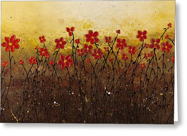 Where Happiness Grows Greeting Card by Carmen Guedez