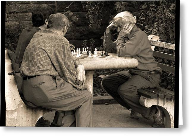 Checkmate Greeting Cards - Where Is Bobby Fischer Greeting Card by Madeline Ellis