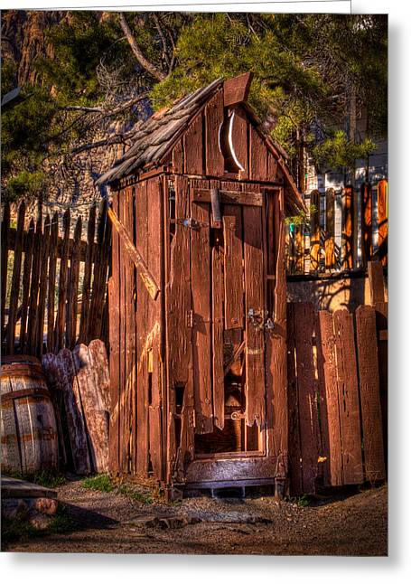 David Patterson Greeting Cards - Where is the Closest Bathroom? Greeting Card by David Patterson