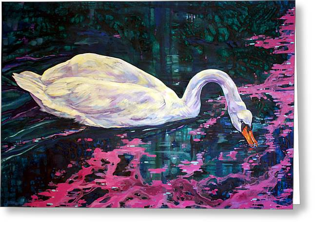 Flying Bird Greeting Cards - Where lilac fall Greeting Card by Derrick Higgins